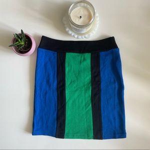 BNWT Colour Block Body Con Mini Skirt